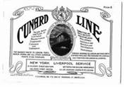 Cunard Line 1912 Saloon Rates