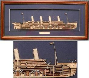Handcrafted Half Model of R.M.S. TITANIC