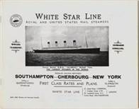 White Star Line First Class Rates and Plans