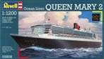 QUEEN MARY 2 Ocean liner plastic model kit 1:1200