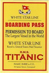 Titanic Boarding Pass