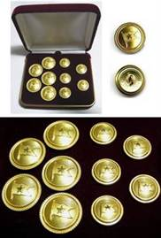 Brass Titanic and White Star Line Uniform Buttons
