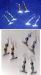 Titanic Earrings in sterling silver