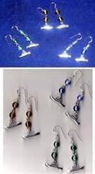Titanic Earrings in sterling silver