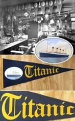 RMS Titanic Souvenir Felt Pennant