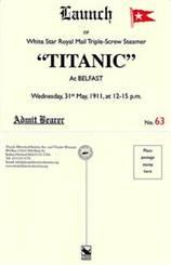 Titanic Launch Invitation