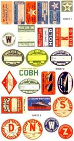 25 White Star Line Luggage Labels and Stickers