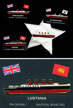 Famous Ocean Liner Pins