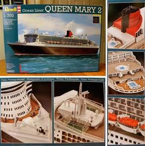 Queen Mary 2 Model Kit 1:700 SCALE