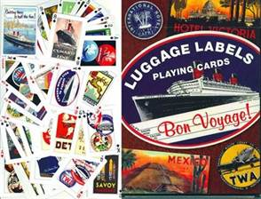 LUGGAGE LABEL PLAYING CARDS