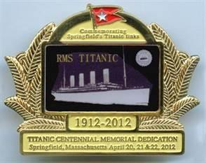 Gold Titanic Centennial Pin