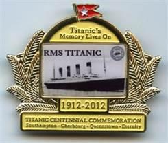 Golden Titanic Centennial Commemorative Pin