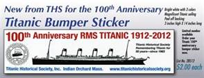 Titanic Historical Society Titanic Bumper Sticker