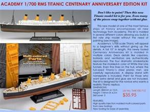 Easy RMS Titanic Kit 1/700 Scale by Academy