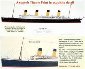 Titanic 1912 Print by Peter Sparre