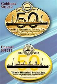 THS 50th Anniversary Lapel Pins
