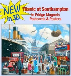 Titanic at Southampton 3D! Postcard, Magnet or Poster