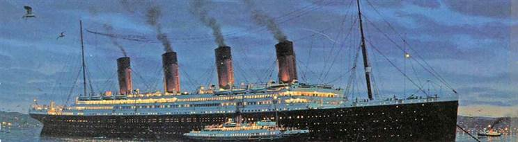 Titanic at Cherbourg Au Revoir to the Old World by Ken Marschall