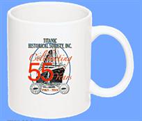 THS 55th Anniversary Traditional Ceramic 11 oz. Coffee Mug