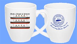 Titanic, Olympic & Britannic 16 oz. Ceramic Bistro Cup