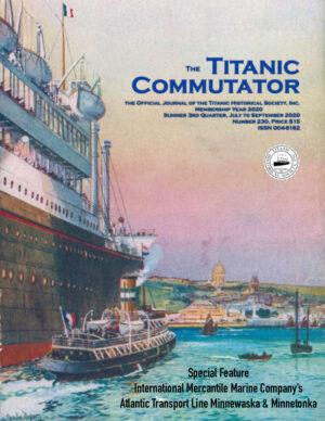 Titanic Historical Society Commutator 230 Cover Front