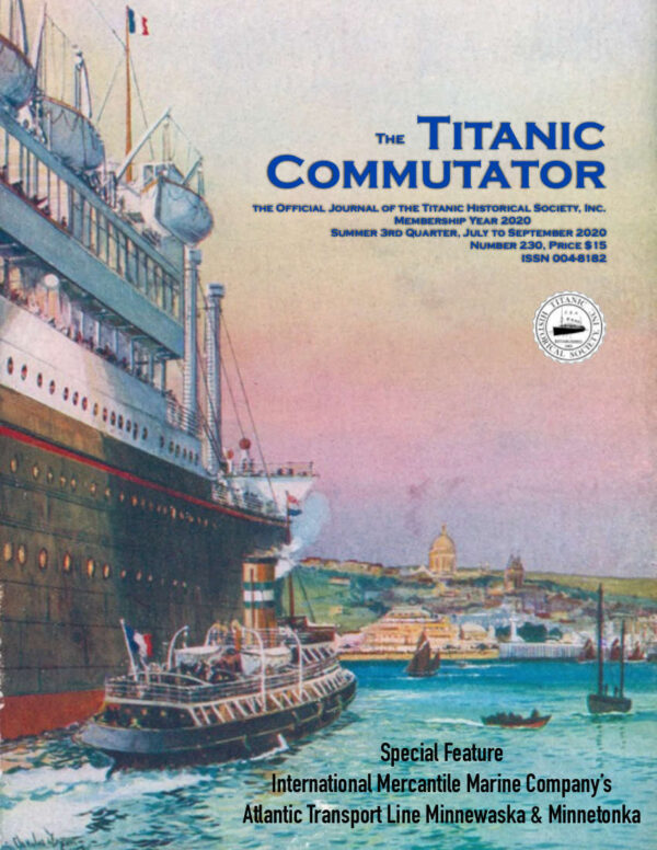 Titanic Historical Society Commutator 230 Cover Front